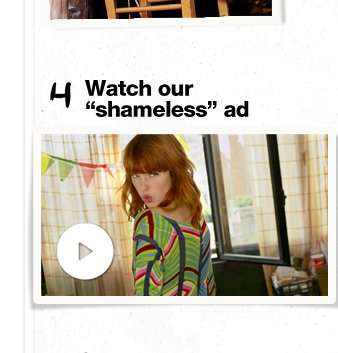 """Watch our """"shameless"""" ad"""