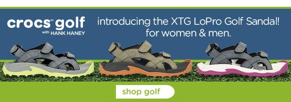 introducing the XTG LoPro Golf Sandal! for women & men. shop golf