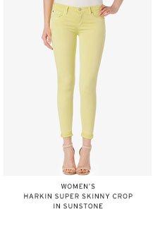 Women's Harkin Super Skinny Crop in Sunstone