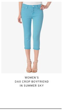 Women's Dax Crop Boyfriend in Summer Sky