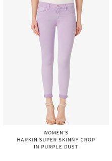 Women's Harkin Super Skinny Crop in Purple Dust