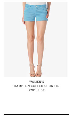 Women's Hampton Cuffed Short in Poolside
