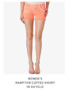 Women's Hampton Cuffed Short in Dayglo