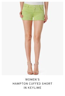 Women's Hampton Cuffed Short in Keylime