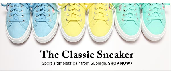 Sport Superga's timeless sneakers: the go-to for fashion icons past and present. Shop now >>