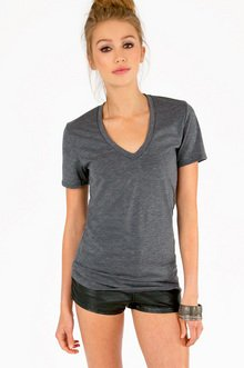 Basic V-Neck T-Shirt $19