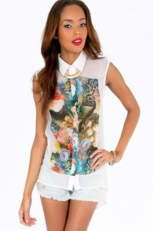 The Forest Flora Blouse $35