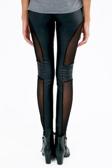 Cut And Mesh Leggings $19