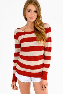 Nautical Striped Sweater $30