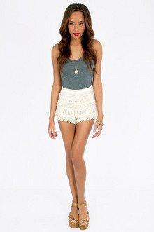 Crochet Floral Shorts $30