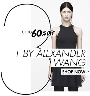 T BY ALEXANDER WANG UP TO 60% OFF