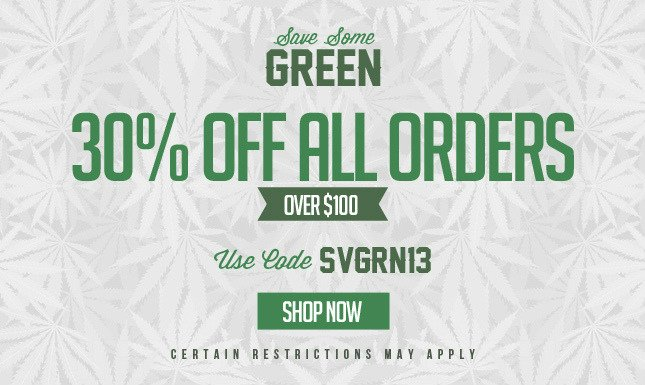 Save Some Green, Use Code: SVGRN13