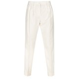 Cream Pleated Front Trousers