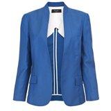 Blue Buttonless Jacket