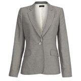 Grey Single Button Jacket