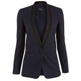 Navy Shawl Collar Tuxedo Jacket