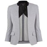 Grey Summer Pique Buttonless Jacket