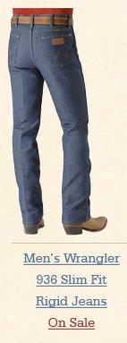Mens 936 Slim Fit Rigid Jeans
