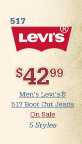 All Mens Levi 517 Boot Cut Jeans on Sale
