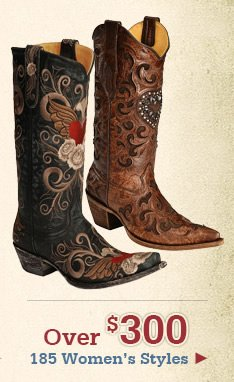 All Womens Boots over 300 on Sale