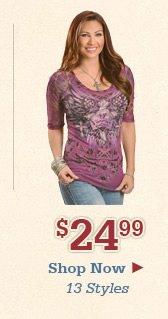 Shop Womens 24.99 Tops