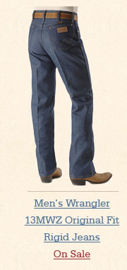 Mens 13MWZ Original Fit Rigid Jeans