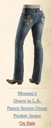 Grace in LA Fancy Scroll Cross Pocket Jeans
