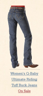 Womens Q Baby Ultimate Riding Tuff Buck Jeans on Sale