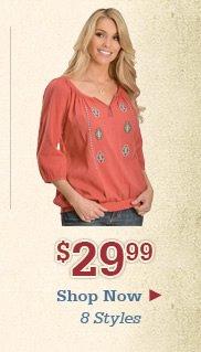 Shop Womens 29.99 Tops