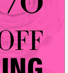 TODAY: Take 50% off EVERYTHING in stores & online!