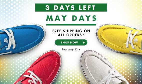 May Days - Free Shipping on all orders*