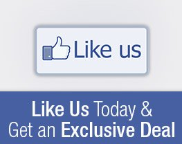 Like Us Today & Get an Exclusive Deal