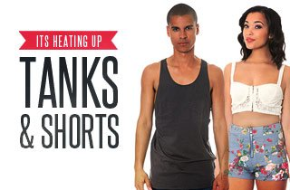 Things Are Heating Up: Tanks & Shorts
