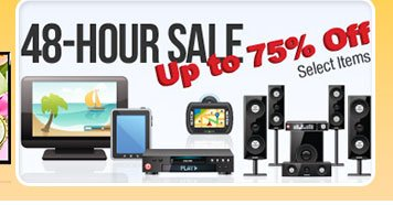 48-HOUR SALE. Up to 75% Off. Select Items