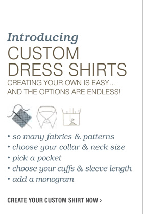 Shop Custom Dress Shirts