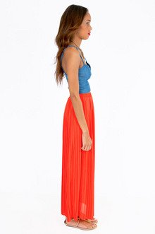 Proudly Pleated Maxi Skirt $36