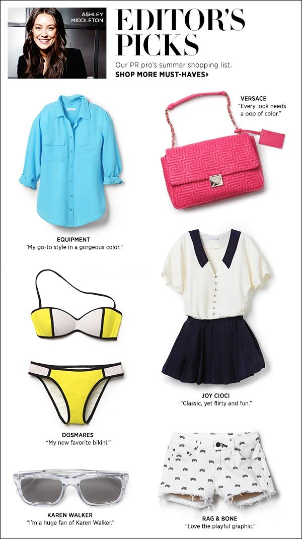 Shop with a pro! See a Shopbop insider's top picks for summer. Shop now >>