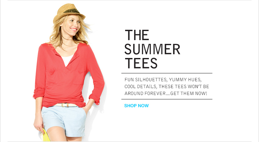 THE SUMMER TEES | SHOP NOW