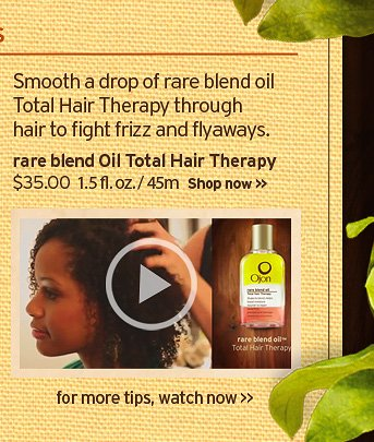 smooth a drop of rare blend oil total hair therapy through hair to  fight frizz and flyaways rare belnd oil total hair therapy 35 dollars 1  5 fl oz 45ml Shop now