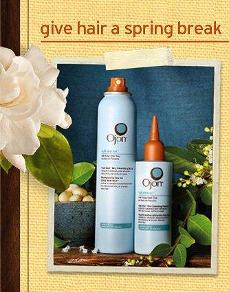 give  hair a spring break