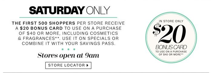 Saturday Only Store Locator