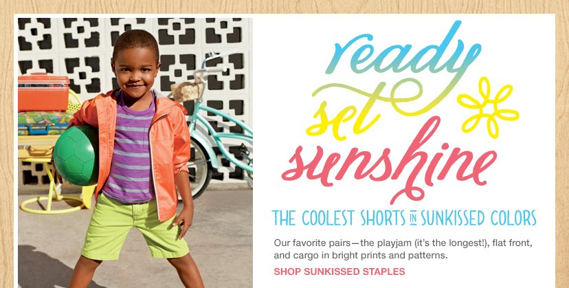 ready set sunshine | THE COOLEST SHORTS IN SUNKISSED COLORS | SHOP SUNKISSED STAPLES