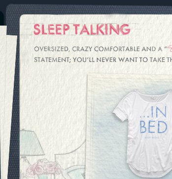 SLEEP TALKING OVERSIZED, CRAZY COMFORTABLE AND A SO TRUE STATEMENT; YOU'LL NEVER WANT TO TAKE THESE TEES OFF