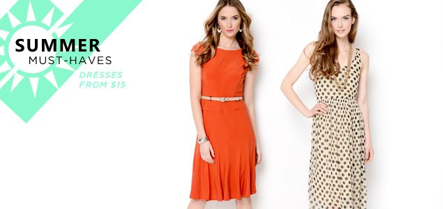 Summer Must-Haves Sale: Dresses from $15