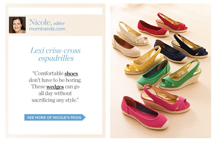 Nicole, editor of momtrends.com, shares her picks. See more of Nicole's picks.