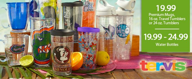 Tervis Tumblers, Mugs and Water Bottles