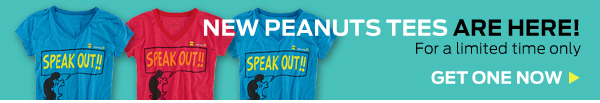 New Peanuts Tees Are Here ›