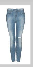 MOTO Bleach Ripped Knee Skinny Jeans