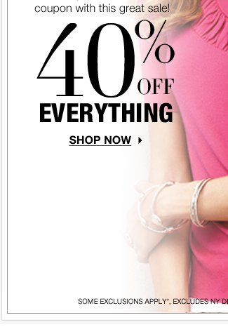 Happy Mother's Day!! Take 40% off EVERYTHING!