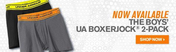 NOW AVAILABLE THE BOYS UA BOXERJOCK® 2 PACK - SHOP NOW